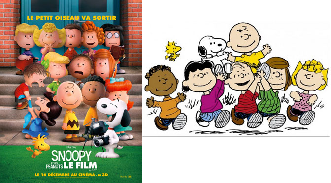 Peanuts Comic vs the Movie