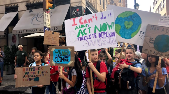 Climate change walkout